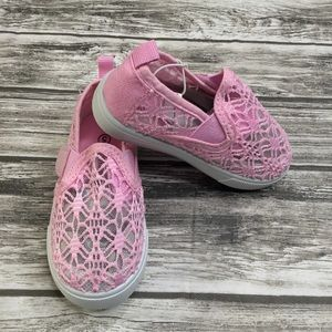 Slip on Toddler Girls Shoes Pink Size 5 Loafers